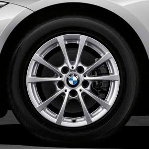 BMW Alufelge V-Speiche 390 7J x 16 ET 31 Silber Vorderachse / Hinterachse BMW 3er F30 F31 4er F36