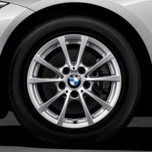 BMW Winterkompletträder V-Speiche 390 silber 16 Zoll 3er F30 F31 4er F36 (418d)