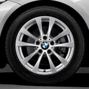 BMW Winterkompletträder V-Speiche 395 silber 17 Zoll 3er F34 GT