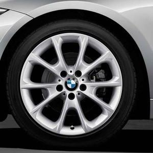 BMW Kompletträder V-Speiche 398 silber 18 Zoll 3er F30 F31 4er F32 F33 F36 RDCi