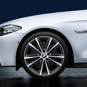 BMW Kompletträder M Performance V-Speiche 464 ferricgrey 20 Zoll 5er F10 F11 6er F06 F12 F13 RDC LC