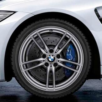 BMW Alufelge V-Speiche 641M silber 9J x 19 ET 29 Hinterachse M3 F80 M4 F82 F83