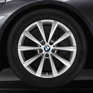BMW Winterkompletträder V-Speiche 642 silber 18 Zoll 7er G11 G12 RDCi