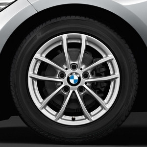 BMW Kompletträder V-Speiche 378 16 Zoll Silber 1er F20 F21 2er F22 F23