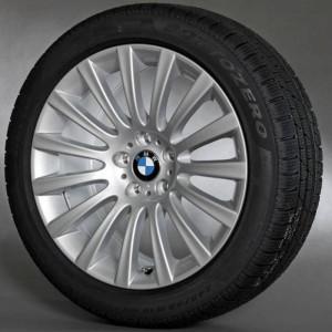 BMW Alufelge Vielspeiche 235 9,5J x 19 ET 39 Silber Hinterachse BMW 7er F01 F02 F04 5er F07