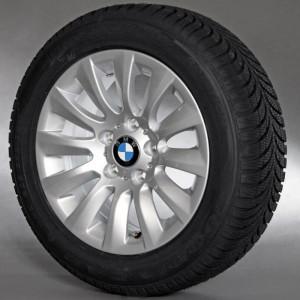 BMW Winterkompletträder Vielspeiche 282 silber 16 Zoll 3er E90 E91 E92 E93