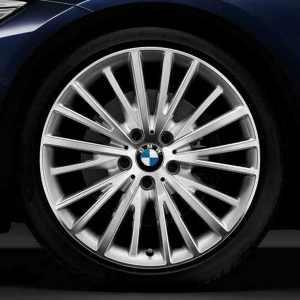 BMW Alufelge Vielspeiche 399 bicolor (silber/glanzgedreht) 8J x 19 ET 36 Vorderachse 3er F30 F31 4er F32 F33 F36