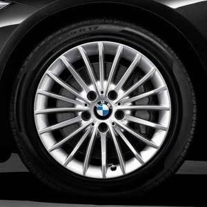 BMW Kompletträder Vielspeiche 414 silber 17 Zoll 3er F30 F31 4er F32 F33 F36 RDCi