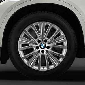 BMW Alufelge Vielspeiche 448 bicolor (silber/glanzgedreht) 9J x 19 ET 48 Vorderachse / Hinterachse X5 F15