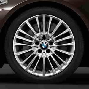 BMW Alufelge Vielspeiche 455 9J x 19 ET 44 silber / glanzgedreht Hinterachse 5er F10 6er F06 F12 F13