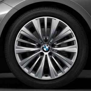 BMW Alufelge Vielspeiche 458 glanzgedreht 8,5J x 19 ET 25 Vorderachse 5er F07 7er F01 F02 F04