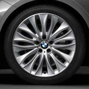 BMW Alufelge Vielspeiche 459 glanzgedreht 8,5J x 20 ET 25 Vorderachse 5er F07 7er F01 F02 F04