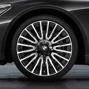 BMW Kompletträder Vielspeiche 629 bicolor (orbitgrey / glanzgedreht) 21 Zoll 7er G11 G12 RDCi