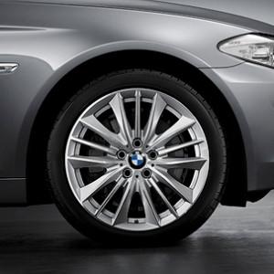 BMW Kompletträder W-Speiche 332 19 Zoll Silber 5er F11