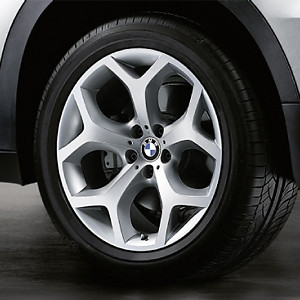 BMW Alufelge Y-Speiche 214 11J x 20 ET 37 Silber Hinterachse BMW X6 E71 E72