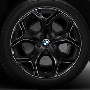 BMW Kompletträder Y-Speiche 214 20 Zoll Schwarz X5 E70 E70LCI F15 X6 F16