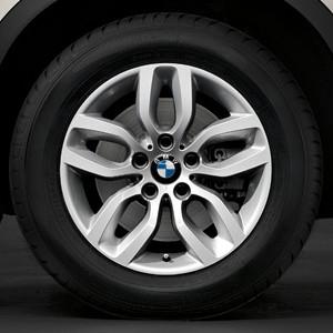 BMW Alufelge Y-Speiche 305 7,5J x 17 ET 32 Silber Vorderachse / Hinterachse BMW X3 F25 X4 F26