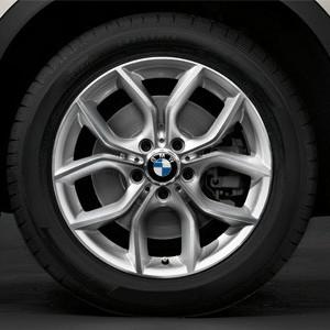 BMW Alufelge Y-Speiche 308 8J x 18 ET 43 Silber Vorderachse / Hinterachse BMW X3 F25 X4 F26