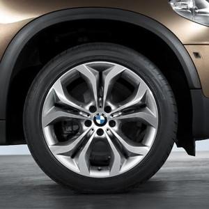 BMW Alufelge Y-Speiche 336 11J x 20 ET 37 Bicolor (Orbit Grau / glanzgedreht) Hinterachse BMW X6 E71 E72