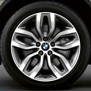BMW Winterkompletträder Y-Speiche 337 Bicolor (ferricgrey / glanzgedreht) 20 Zoll X5 E70 X6 E71