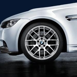 BMW Alufelge M Performance Y-Speiche 359 9J x 19 ET 31 Silber Vorderachse BMW 1er M E82 3er M E90 E92