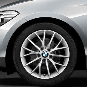 BMW Alufelge Y-Speiche 380 7J x 17 ET 40 silber Vorderachse / Hinterachse BMW 1er F20 F21 2er F22 F23