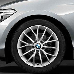 BMW Winterkompletträder Y-Speiche 380 silber 17 Zoll 1er F20 F21 2er F22 F23 RDCi