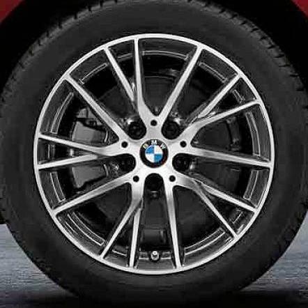 BMW Winterkompletträder Y-Speiche 489 bicolor (orbitgrey/glanzgedreht) 17 Zoll 2er F45 F46 RDCi