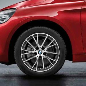 BMW Alufelge Y-Speiche 489 bicolor (ferricgrey / glanzgedreht) 7J x 17 ET 47 Vorderachse / Hinterachse 2er F45 F46