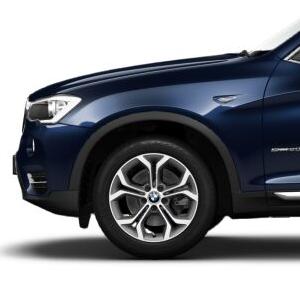 BMW Alufelge Y-Speiche 607 bicolor (ferricgrey / glanzgedreht) 8J x 18 ET 43 Vorderachse / Hinterachse X3 F25 X4 F26