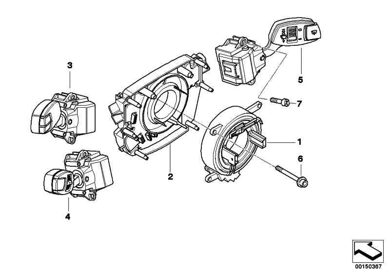 BMW 5er E60 E61 6er E63 E64 Schalter Blink-Abblend-Fernlicht 61316951349