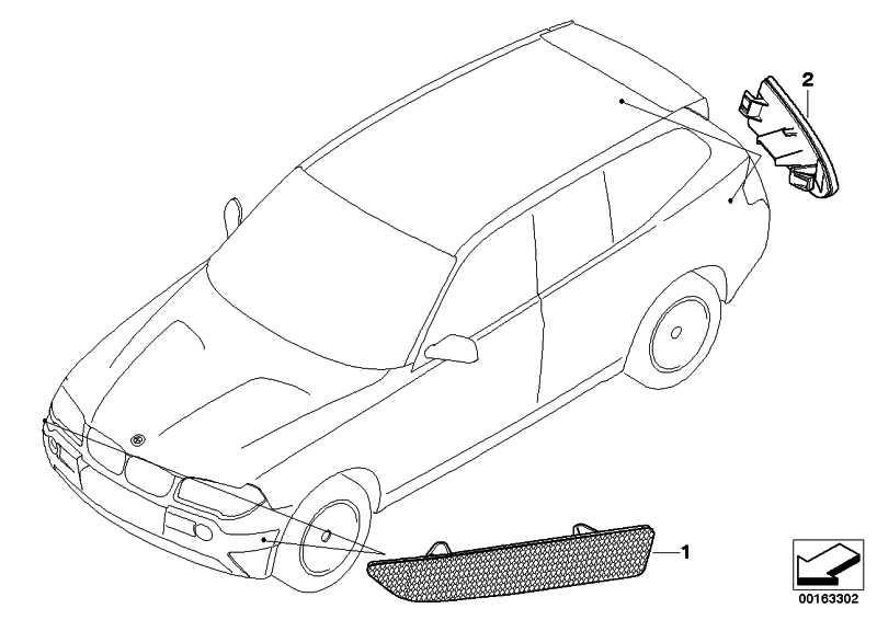 Original BMW 63147162217 Rückstrahler links X3