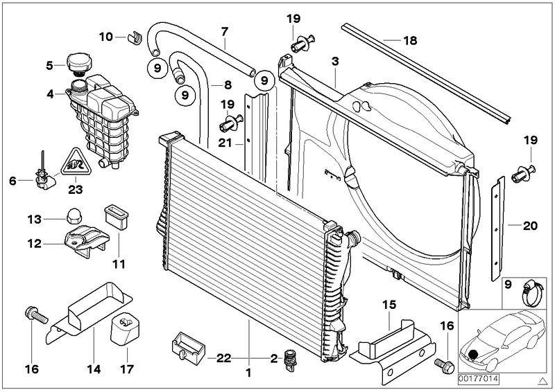Kühlmittelstand FEBI BILSTEIN 26115 für BMW Sensor