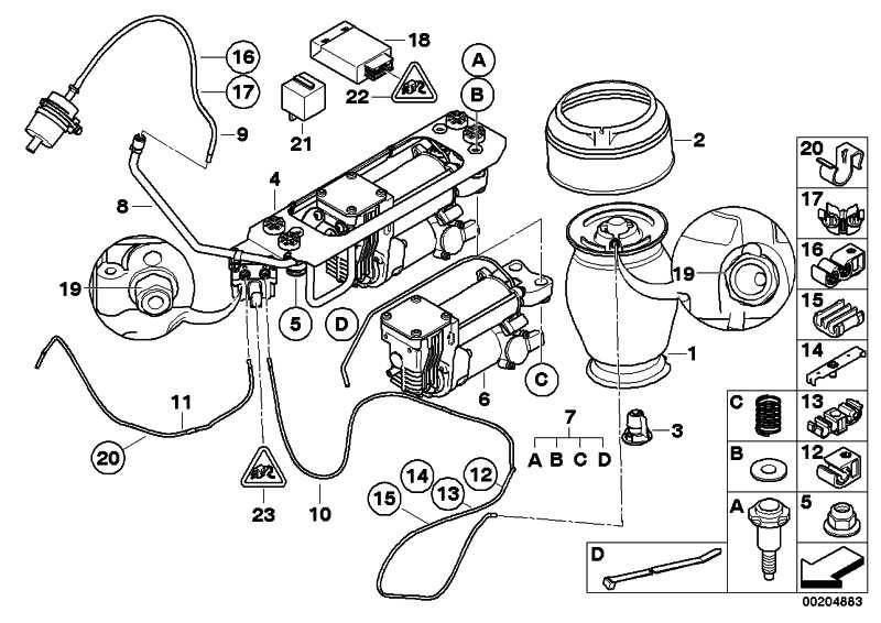 Bmw E61 Air Suspension Wiring Diagram : Kompressor luftversorgungsanlage er