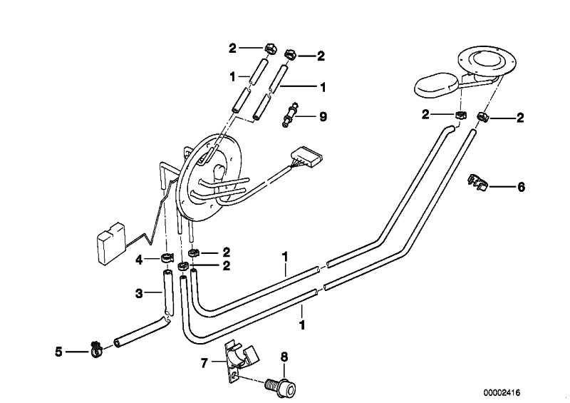 Ventil für Scheibenwaschanlage 3er 5er 7er Z3 Original BMW 61661389040