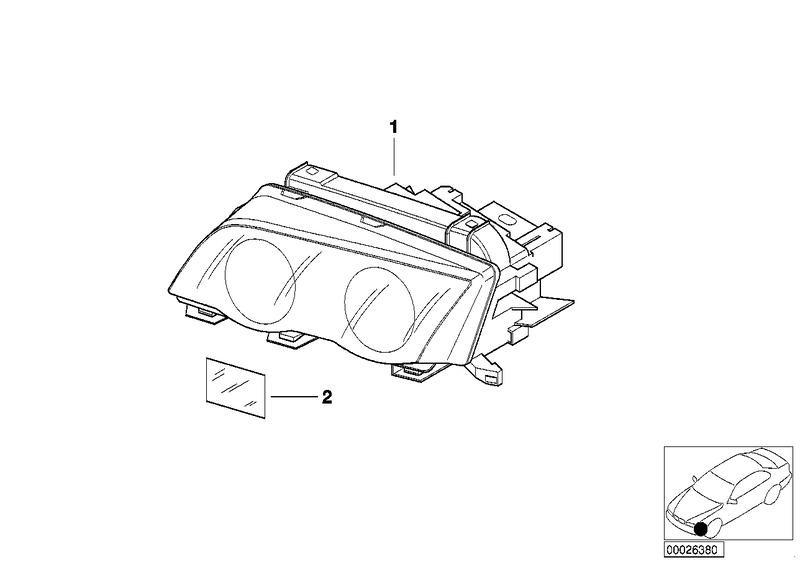 Hauptscheinwerfer TYC 20-0011-01-2