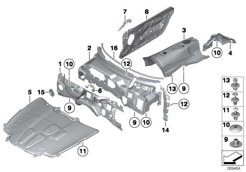 Schallisolierung Stirnwand Motorraum Z4 51489128509