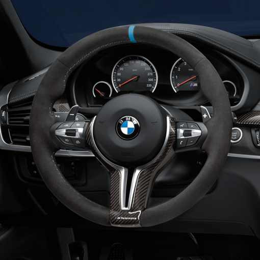bmw m performance lenkrad alcantara mit carbonblende x5m. Black Bedroom Furniture Sets. Home Design Ideas