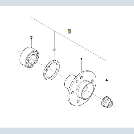 bmw radlager service kit hinten 3er e36 e46 7er e38 z8 e52. Black Bedroom Furniture Sets. Home Design Ideas