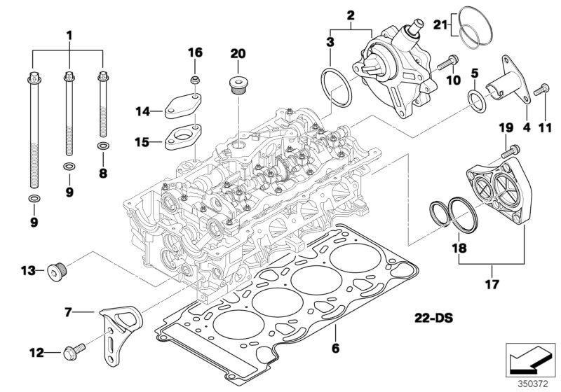 Unterdruckpumpe Bremsanlage mit Dichtung für 1er 3er 5er 6er 7er Z4 Limousine