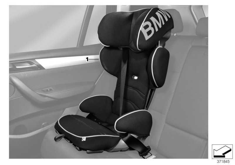 bmw junior seat 2 3 schwarz blau 82222449301. Black Bedroom Furniture Sets. Home Design Ideas