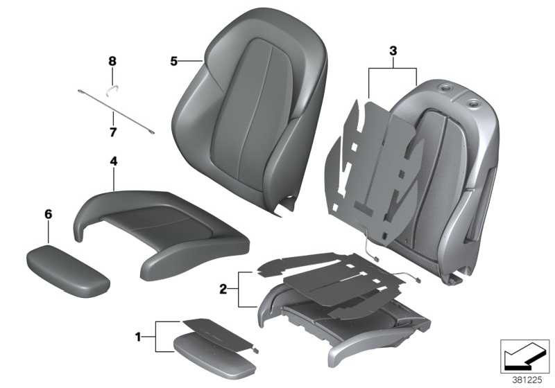 polsterteil sportsitz sbr 2er x1 52107430805. Black Bedroom Furniture Sets. Home Design Ideas