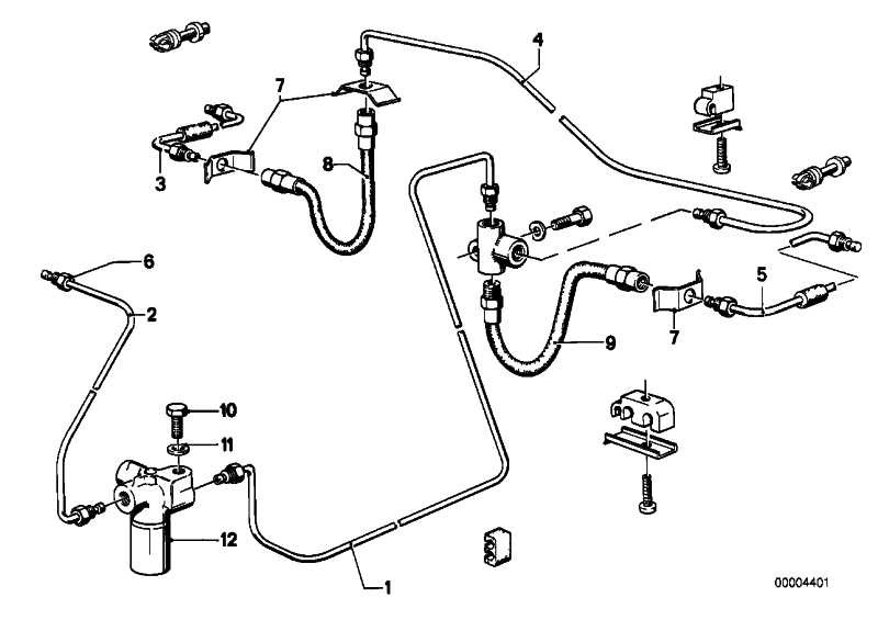 4 Bremsschläuche für BMW 3er E21 Modelle 315-320i Bremsschlauch-Satz