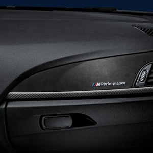 bmw m performance interieurleisten in carbon mit alcantara