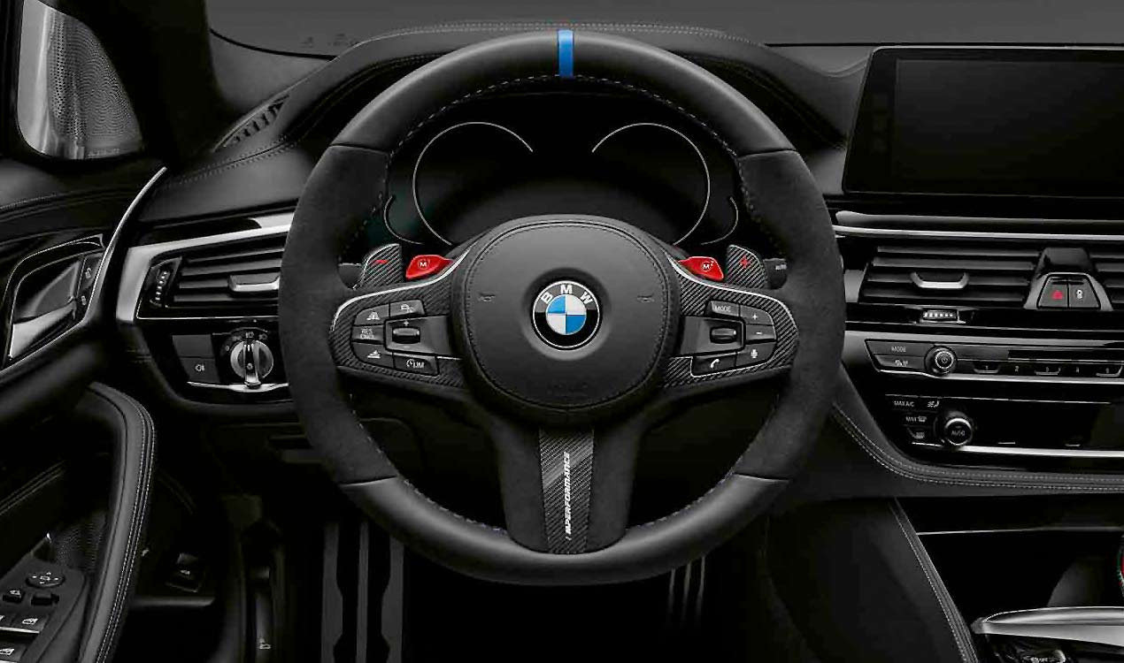 bmw m performance lenkrad abdeckung leder carbon 5er g30. Black Bedroom Furniture Sets. Home Design Ideas