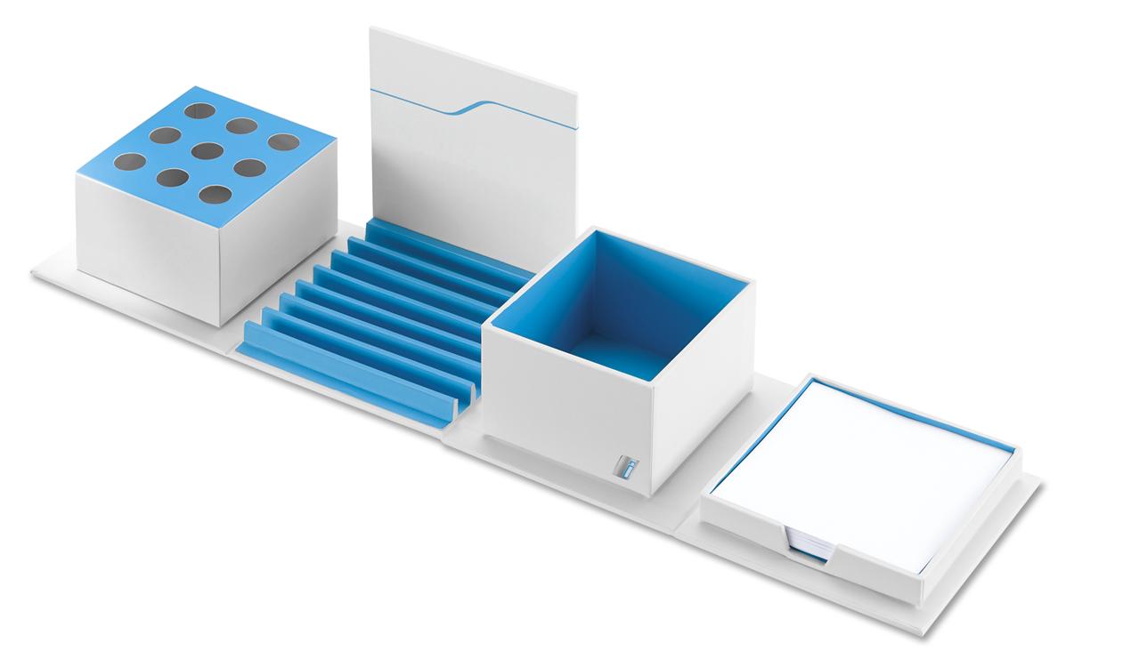 bmw i schreibtisch organizer wei blau. Black Bedroom Furniture Sets. Home Design Ideas