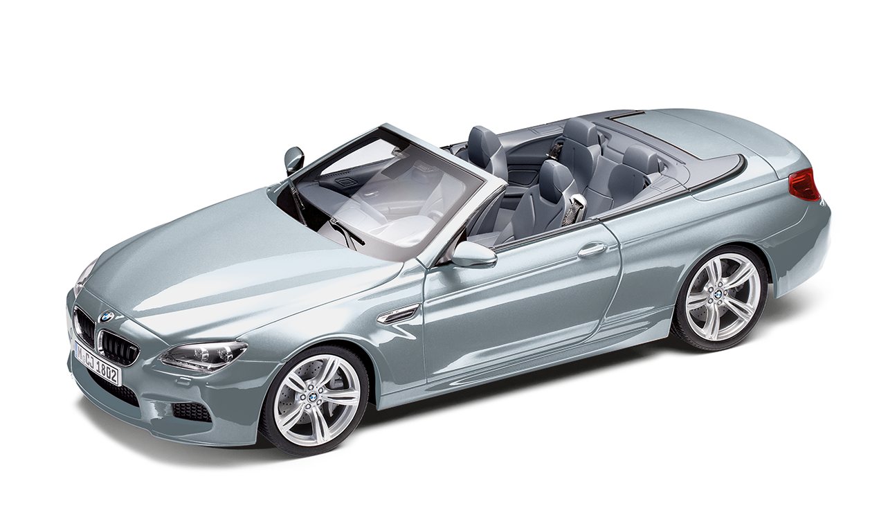bmw m6 cabrio f12 m silber miniatur 1 18. Black Bedroom Furniture Sets. Home Design Ideas