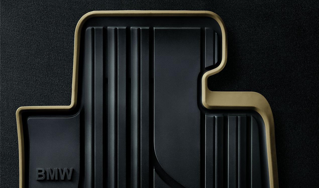 bmw allwetter fu matten modern vorne schwarz beige 1er f20. Black Bedroom Furniture Sets. Home Design Ideas