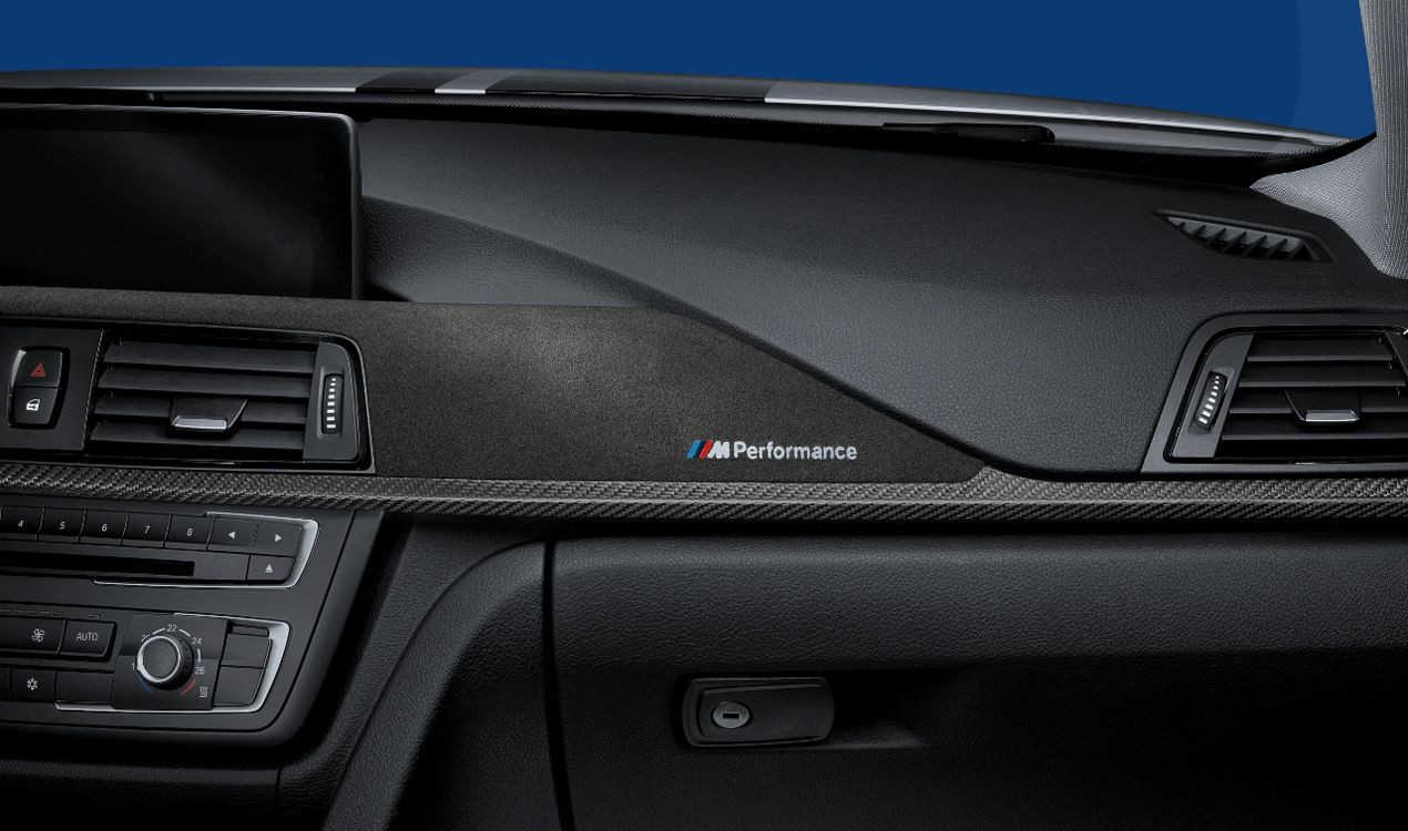 bmw m performance interieurleisten carbon mit alcantara. Black Bedroom Furniture Sets. Home Design Ideas