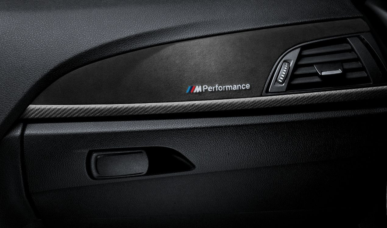bmw m performance interieurleisten carbon alcantara 1er